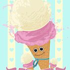 Happy Ice Cream Cone by Adamzworld