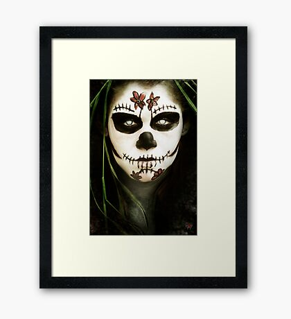 Death Mask Framed Print
