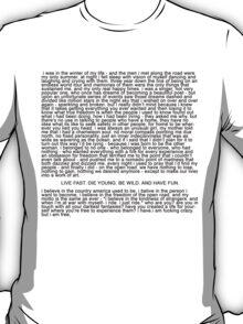 Ride Monologue T-Shirt