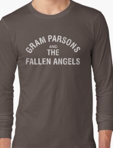 Gram Parsons and the Fallen Angels (white - distressed) Long Sleeve T-Shirt