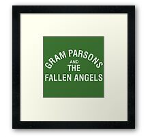 Gram Parsons and the Fallen Angels (white - distressed) Framed Print