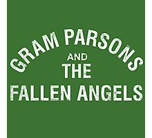Gram Parsons and the Fallen Angels (white - distressed) Photographic Print