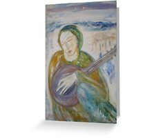 """""""Musician at Rest"""" Greeting Card"""