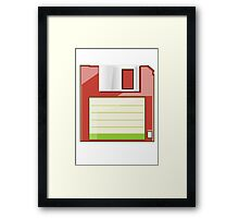 Red Floppy Framed Print