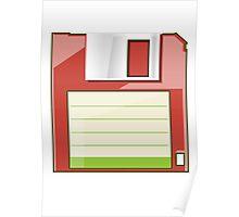 Red Floppy Poster