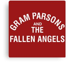 Gram Parsons and the Fallen Angels (white) Canvas Print