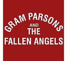 Gram Parsons and the Fallen Angels (white) Photographic Print