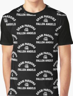Gram Parsons and the Fallen Angels (white) Graphic T-Shirt