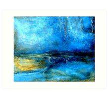 Abstract Landscape Painting DESERT LIGHTNING Art Print