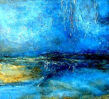 Abstract Landscape Painting DESERT LIGHTNING by hollyanderson