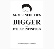 John Green Quote Poster - Some infinities are bigger than other infinities Kids Clothes