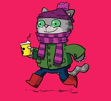 Winter Kitty Womens Fitted T-Shirt