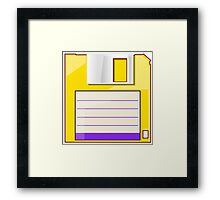 Yellow Floppy Framed Print