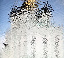 Church of gold reflection ripples by mrivserg