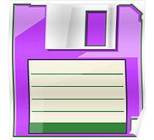 Purple Floppy Poster