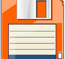 Orange Floppy by Ewan T. Gibson