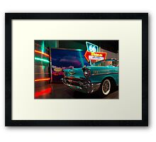 Chevy Drive In Framed Print