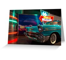 Chevy Drive In Greeting Card