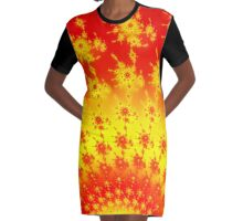 The Flowering Inferno Graphic T-Shirt Dress