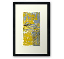 Yellow and Grey Abstract Art Set URBAN CHIC by Holly Anderson Framed Print