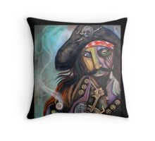 Captain Barbosa Throw Pillow