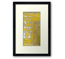 Contemporary Yellow and Grey Art Set by Holly Anderson Framed Print