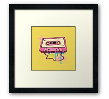 Retro cassette tape. Framed Print