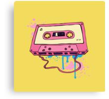 Retro cassette tape. Canvas Print