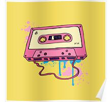 Retro cassette tape. Poster