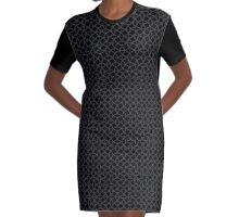Mail Armor (Chain Mail) Design Graphic T-Shirt Dress
