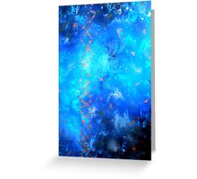 Fluid Acrylic Painting Blue and Black by Holly Anderson TRANSCEND  Greeting Card