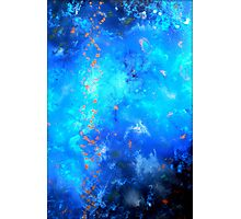 Fluid Acrylic Painting Blue and Black by Holly Anderson TRANSCEND  Photographic Print