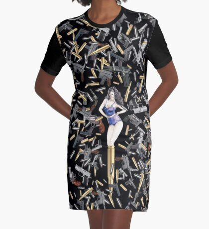 Girls and Guns - The Rome Mission Graphic T-Shirt Dress