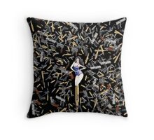 Girls and Guns - The Rome Mission Throw Pillow