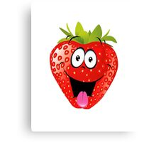 smiling Strawberry  Canvas Print