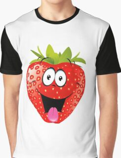 smiling Strawberry  Graphic T-Shirt