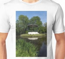 Amsterdam Vondelpark - Elegant Garden Gazebo with a Heron on the Roof Unisex T-Shirt