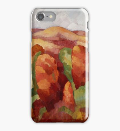 Marsden Hartley - Mountains. Mountains landscape: mountains, rocks, rocky nature, sky and clouds, trees, peak, forest, rustic, hill, travel, hillside iPhone Case/Skin