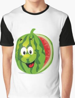smiling watermelon, cartoon Graphic T-Shirt