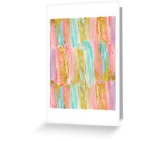Gilded pastels Greeting Card