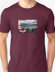 Hulls of Boats And Marmaris Winter Seascape Unisex T-Shirt