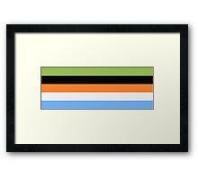 Goofy Color Pallet Framed Print