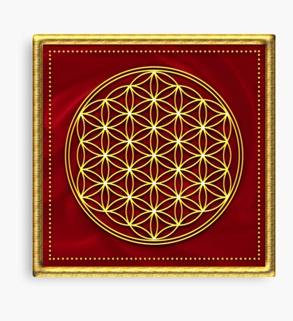 FLOWER OF LIFE - SACRED GEOMETRY - HARMONY & BALANCE Canvas Print