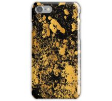 Black and gold modern abstract marble pattern iPhone Case/Skin