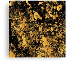 Black and gold modern abstract marble pattern Canvas Print