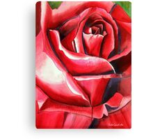 Crimson Glory red rose flower art Canvas Print