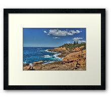 Bermagui Rocky Coast Framed Print