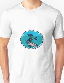 Cobia Fish Fishing Boat Bubble Retro Unisex T-Shirt