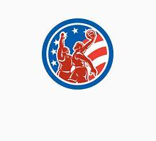 American Basketball Player Dunk Block Circle Retro Unisex T-Shirt
