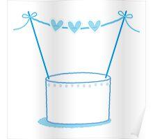 Blue wedding cake Poster